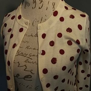 J. Crew Sweaters - J.Crew polka dot cardigan